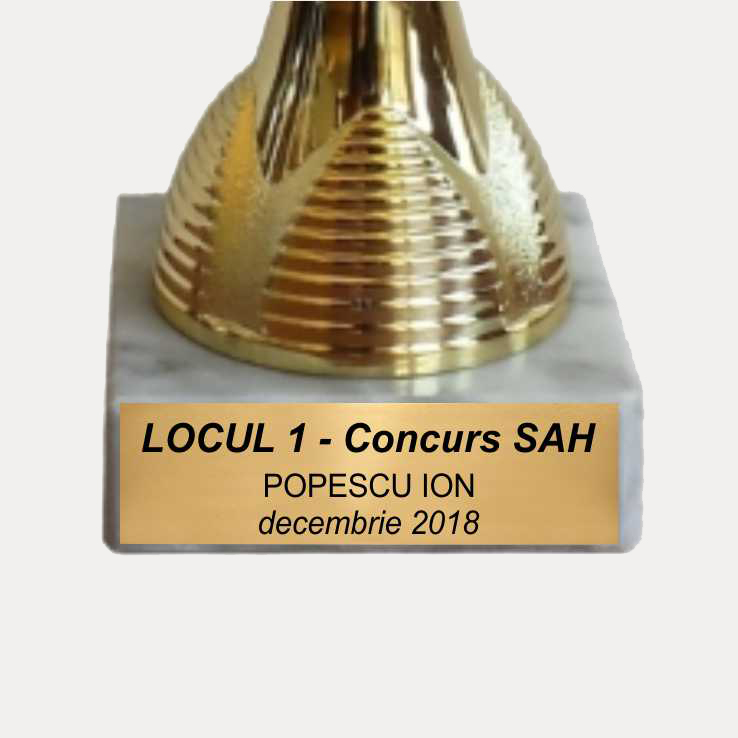 Placute Cupe si Trofee